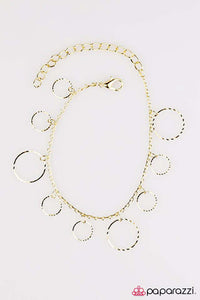 "Paparazzi ""Street Shimmer"" Brass Etched Surfaces Dainty Hoops Bracelet Paparazzi Jewelry"