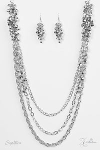 "Paparazzi ""The Shelley"" Sparkling Silver Beads Necklace & Earring Set Zi Collection Paparazzi Jewelry"
