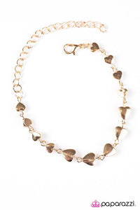 "Paparazzi ""Turn Up The Heartbeat"" Rose Gold Tone Hearts Bracelet Paparazzi Jewelry"