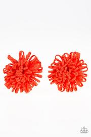 "Paparazzi ""Don't Grow There""  Orange Flower Hairband Clip Paparazzi Jewelry"