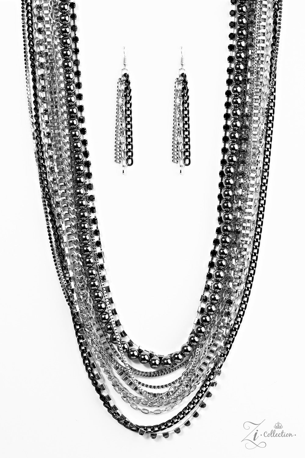 julie black necklace product bb silver bead design beaded powell intricate
