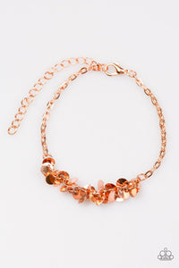 "Paparazzi ""Shimmer Train"" Copper Disc Chain Bracelet Paparazzi Jewelry"