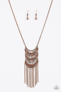 "Paparazzi ""Metal Maven"" Copper Rods and Beads Necklace & Earring Set Paparazzi Jewelry"