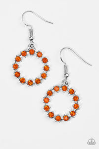 "Paparazzi ""Be Bubbly"" Orange Glittery Rhinestone Earrings Paparazzi Jewelry"
