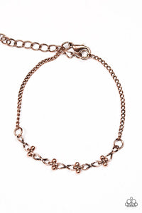 "Paparazzi ""Little Wonder"" Copper Infinity Charm Linked Bracelet Paparazzi Jewelry"