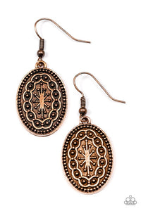 "Paparazzi ""Ancient Wonders"" Copper Tribal Pattern Earrings Paparazzi Jewelry"