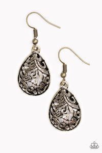 "Paparazzi ""Jungle Vines"" Brass Vine Like Filigree Earrings Paparazzi Jewelry"
