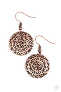 "Paparazzi ""Sunflower Shimmer"" Copper Floral Detail Earrings Paparazzi Jewelry"