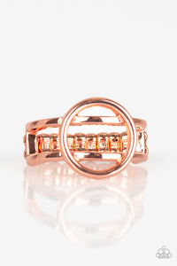 "Paparazzi ""City Center Chic"" Copper Geometric Link Ring Paparazzi Jewelry"
