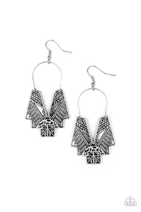"Paparazzi ""Alternative ARTIFACTS"" Silver Tribal Inspired Design Earrings Paparazzi Jewelry"