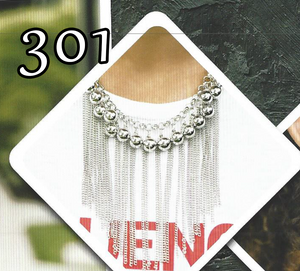 "Paparazzi ""Powerhouse Prowl"" 301 FASHION FIX Magnificent Musings August 2019 Silver Fringe Chain Necklace & Earring Set Paparazzi Jewelry"