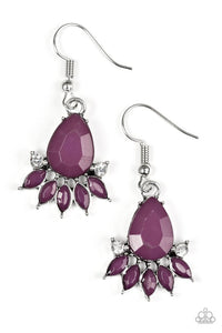 "Paparazzi ""Meant To Bead"" Purple Teardrop Rhinestone Earrings Paparazzi Jewelry"