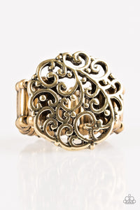 "Paparazzi ""Thrills and Frills"" Brass Filigree Vine Design Ring Paparazzi Jewelry"