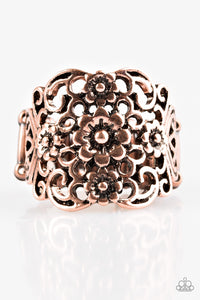 "Paparazzi ""Divinely Daisy"" Copper Daisy Antiqued Ring Paparazzi Jewelry"