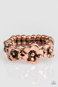 "Paparazzi ""Spring Meadows"" Copper Flower Band Ring Paparazzi Jewelry"