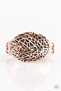 "Paparazzi ""Never LEAF Me"" Copper Leaf Design Ring Paparazzi Jewelry"