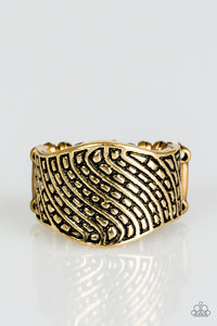 "Paparazzi ""Desert Waves"" Brass Antiqued Wavy Texture Ring Paparazzi Jewelry"