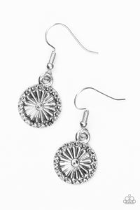"Paparazzi ""Sunflower Summers"" Silver Daisy Floral Earrings Paparazzi Jewelry"