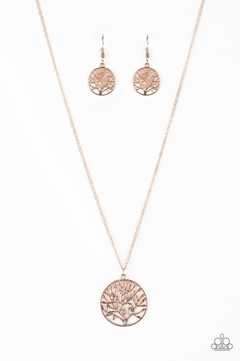Paparazzi Save The Trees Rose Gold Tree Pendant Necklace Earring S Www Marissasblingonabudget Com