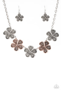 "Paparazzi ""No Common Daisy"" Multi Copper and Silver Flower Daisy Charm Necklace & Earring Set Paparazzi Jewelry"