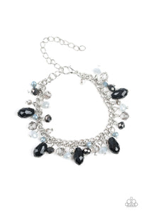 "Paparazzi ""Catwalk Crawl"" Multi Color Crystal Like Beaded Silver Lobster Claw Bracelet Paparazzi Jewelry"
