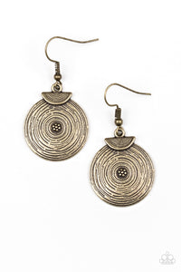"Paparazzi ""Lily Of The Nile"" Brass Swirl Design Earrings Paparazzi Jewelry"