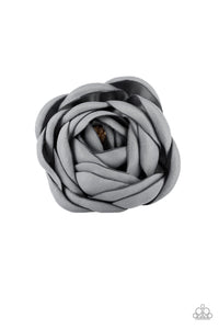 "Paparazzi ""Rose Romance"" Silver Gray Starlet Shimmer Flower Hairband Clip Paparazzi Jewelry"