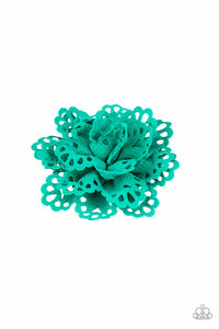 "Paparazzi ""Springing Into Spring"" Green Starlet Shimmer Scalloped Flower Hairband Clip Paparazzi Jewelry"