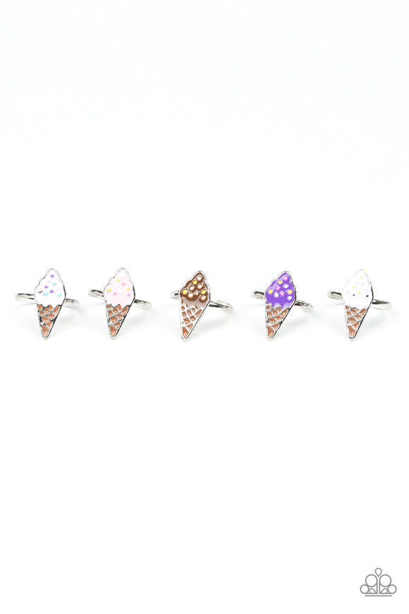 Girl's Starlet Shimmer Multi Color Ice Cream Cone 5 for $5 196XX Silver Rings Paparazzi Jewelry