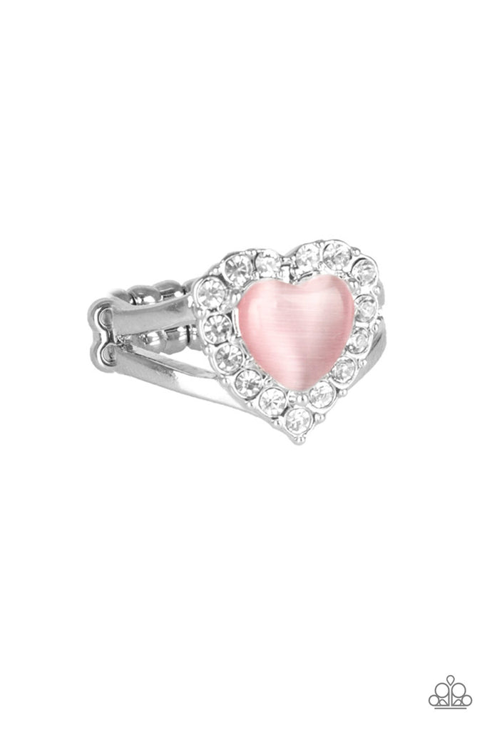Paparazzi Quot Love Is In The Air Quot Pink Heart Moonstone White