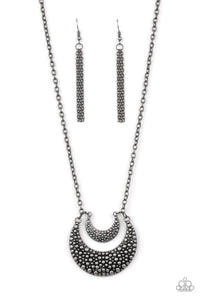 "Paparazzi ""Get Well MOON"" Silver Crescent Pendant Necklace & Earring Set Paparazzi Jewelry"