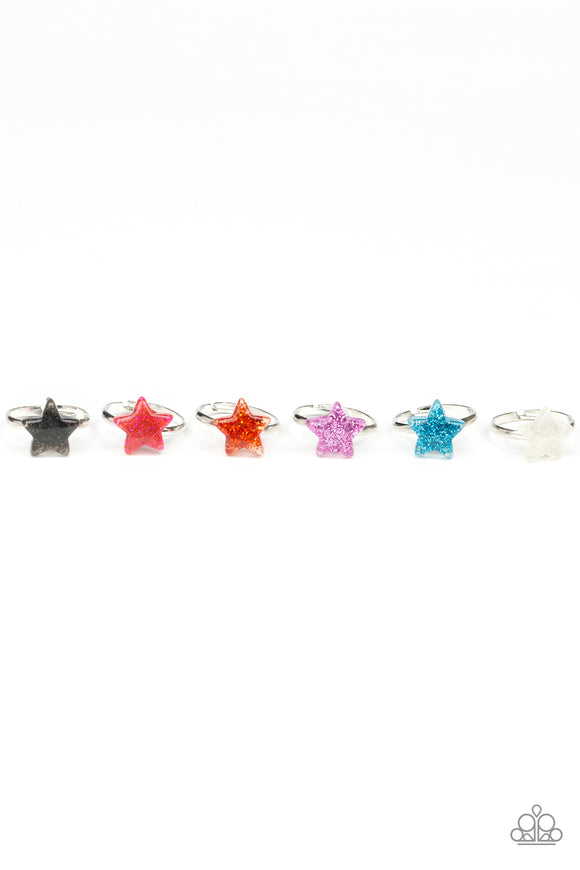 Girl's Starlet Shimmer 10 for $10 169XX Multi Color Pink Purple Star Silver Rings Paparazzi Jewelry
