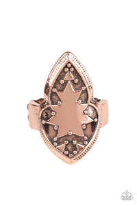 "Paparazzi ""Tribal Ware"" Copper Embossed Tribal Design Ring Paparazzi Jewelry"