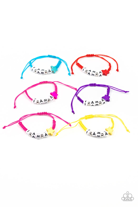 Girl's Starlet Shimmer 203XX Multi Color Pull String I AM A STAR  Bead 10 for $10 Bracelets Paparazzi Jewelry