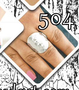 "Paparazzi ""Hit The Brights"" 504 FASHION FIX Sunset Sightings August 2019 Silver Hammered Textured Ring Paparazzi Jewelry"