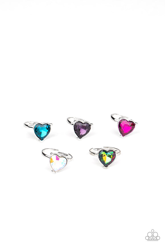Girl's Starlet Shimmer 10 for $10 240XX Multi Color Pink Purple Faceted Heart Gem Silver Rings Paparazzi Jewelry