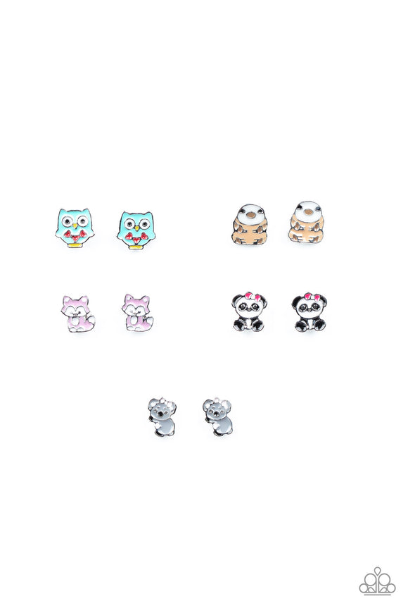 Girl's Starlet Shimmer 10 for $10 310XX Panda Owl Sloth Koala Baby Animal Silver Post Earrings Paparazzi Jewelry