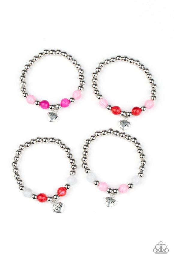 Girl's Starlet Shimmer 10 for $10 234XX Multi Heart Charm Bracelets Paparazzi Jewelry