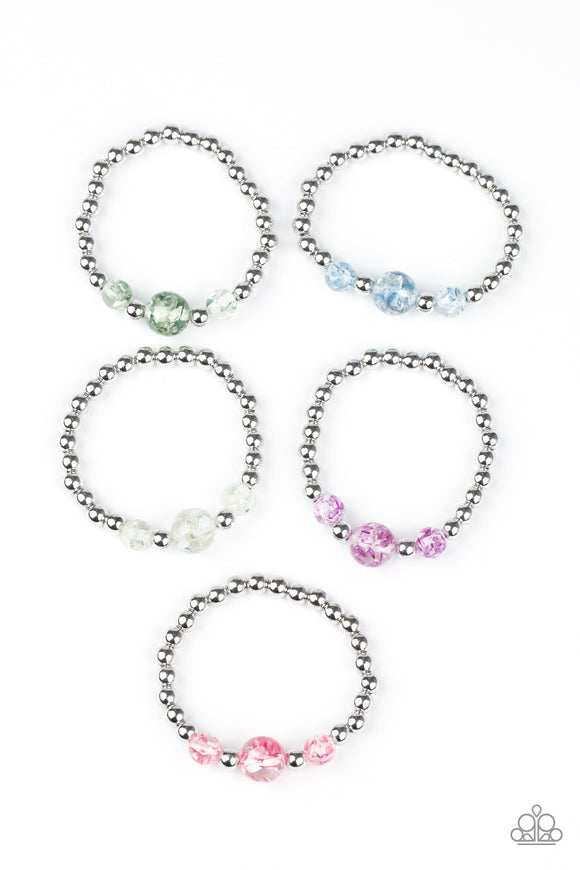 Girl's Starlet Shimmer 10 for $10 218XX Multi Color and Silver Bead Stretchy Bracelets Paparazzi Jewelry
