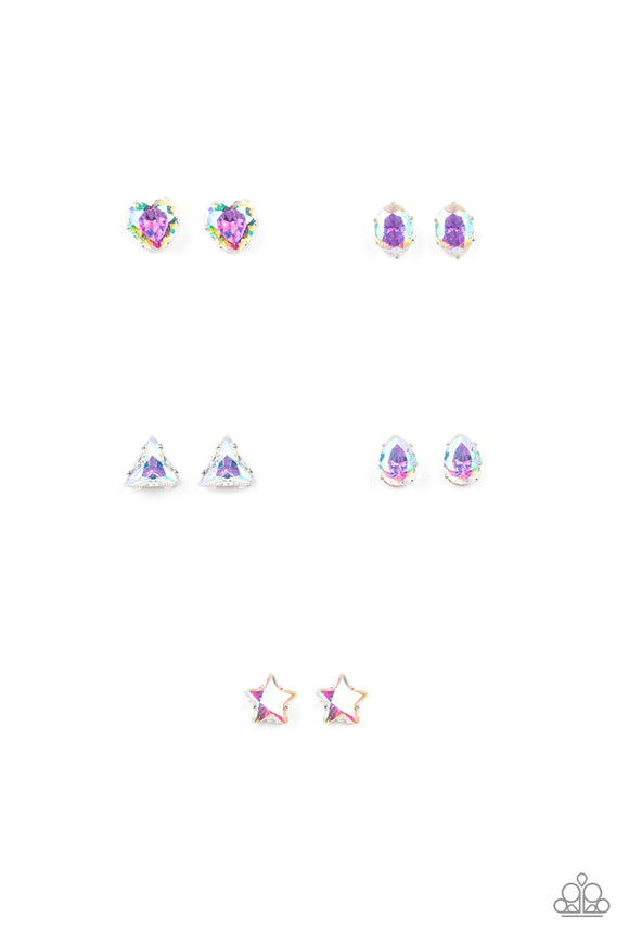 Girl's Starlet Shimmer 10 for $10 315XX Multi Color Oil Spill Earrings Paparazzi Jewelry
