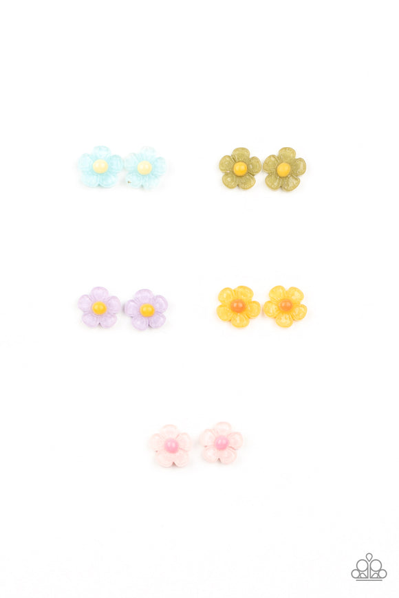 Girl's Starlet Shimmer 10 for $10 319XX Pink & Purple Blue Green Yellow Flowers Silver Post Earrings Paparazzi Jewelry