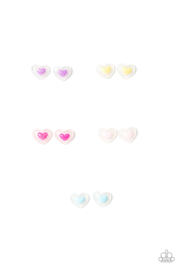 Girl's Starlet Shimmer 10 for $10 322XX Heart Post Earrings Paparazzi Jewelry