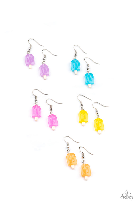 Girl's Starlet Shimmer 10 for $10 331XX Multi Colored Popsicle Earrings Paparazzi Jewelry