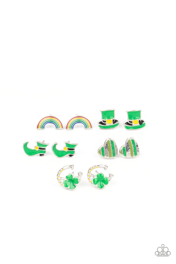 Girl's Starlet Shimmer 10 for $10 354XX St. Patricks Day Shamrock Earrings Paparazzi Jewelry