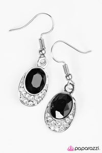 "Paparazzi ""As Humanly Posh-ible"" Black Rhinestone Earrings Paparazzi Jewelry"