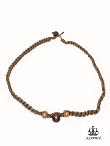 Paparazzi Brown Wooden Beads Urban Necklace Unisex Paparazzi Jewelry