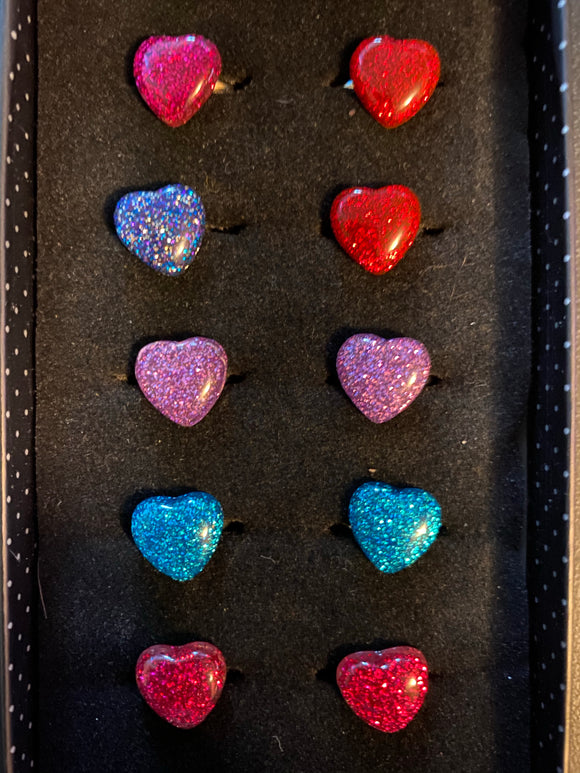Paparazzi VINTAGE VAULT Starlet Shimmer Multi Color Heart Glitter Ring Lot#65 Paparazzi Jewelry