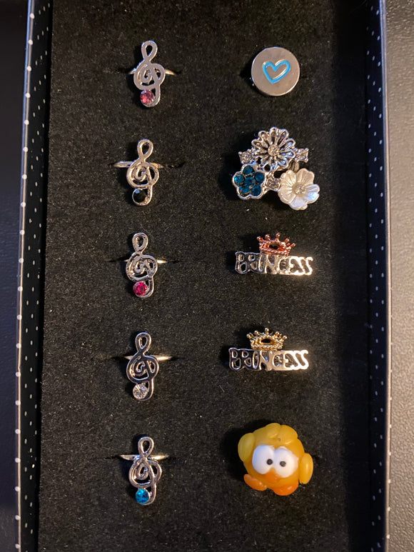 Paparazzi VINTAGE VAULT Starlet Shimmer Sing Me a Happy Song Rings Lot#126 Paparazzi Jewelry