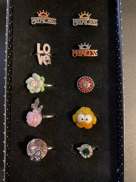 Paparazzi VINTAGE VAULT Starlet Shimmer Princess Power Rings Lot#122 Paparazzi Jewelry