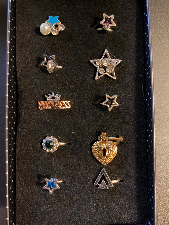Paparazzi VINTAGE VAULT Starlet Shimmer Rock Star Rings Lot#123 Paparazzi Jewelry